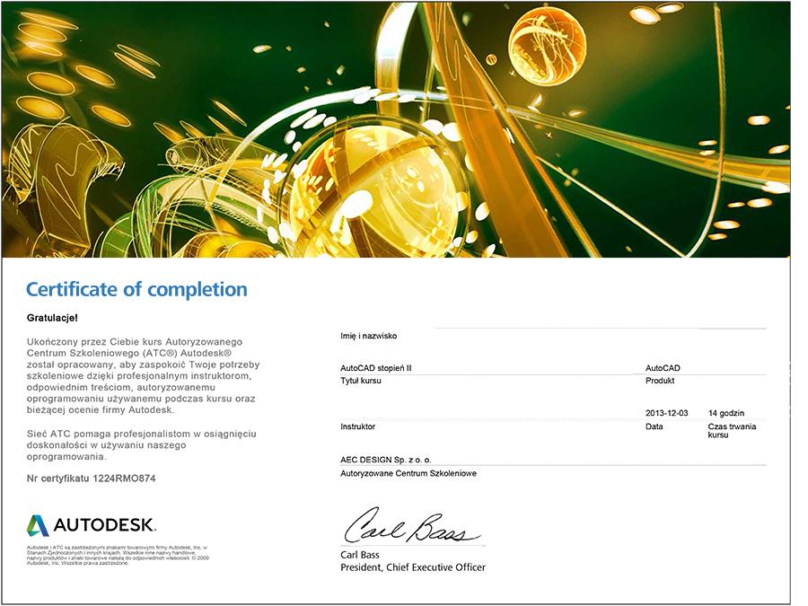 szkolenia autodesk certyfikat oprogramowanie wdrożenia
