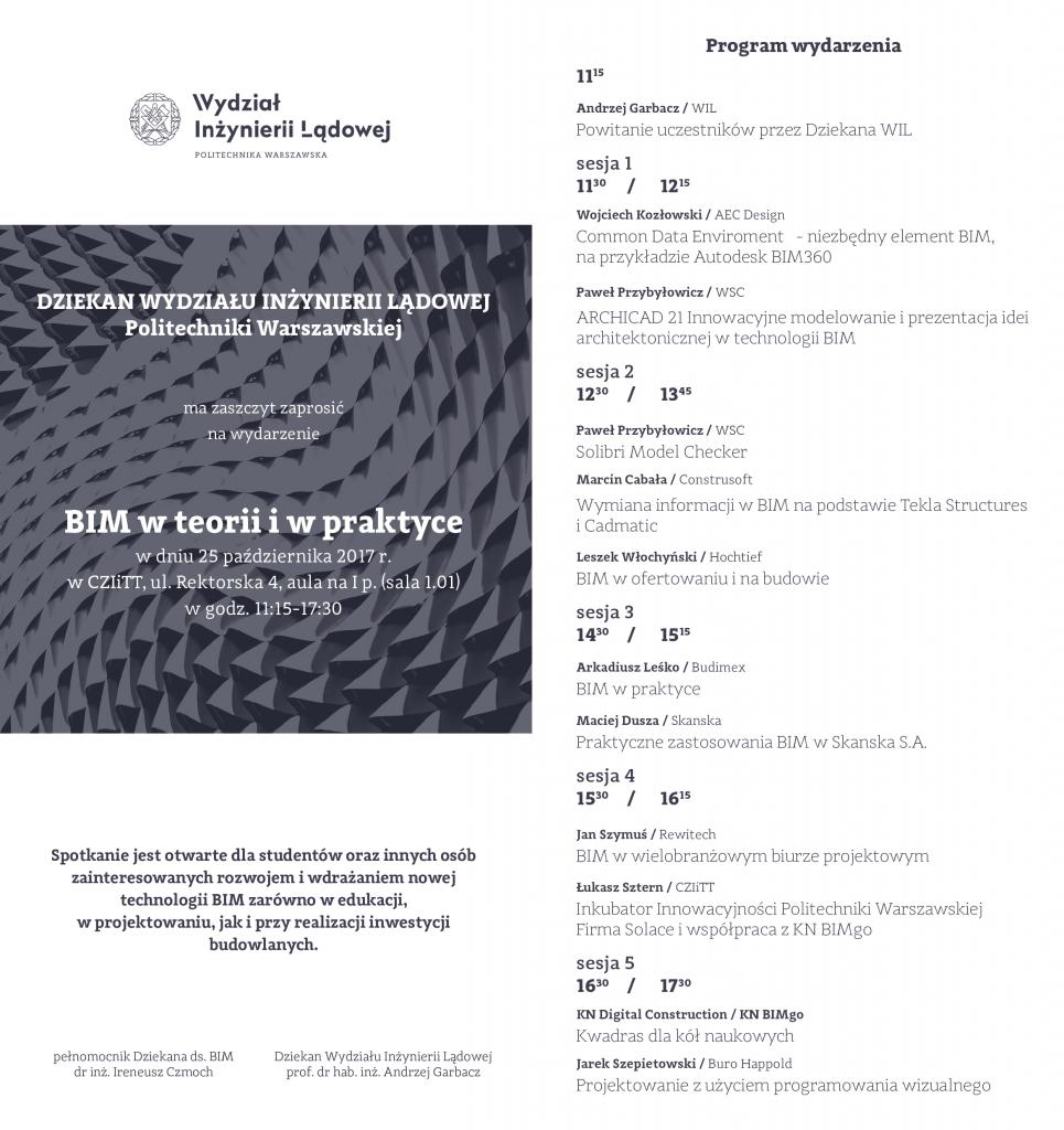 BIM na Politechnice Warszawskiej