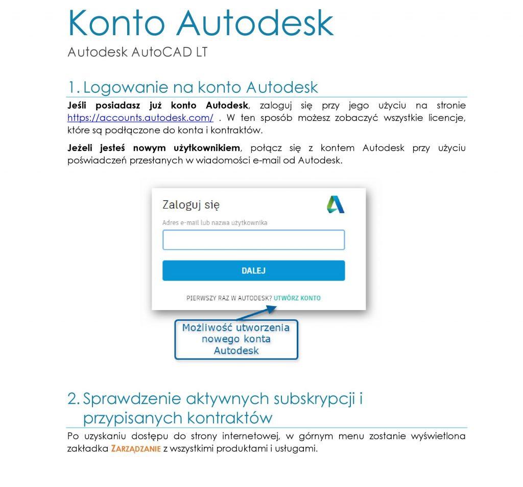 Konto Autodesk