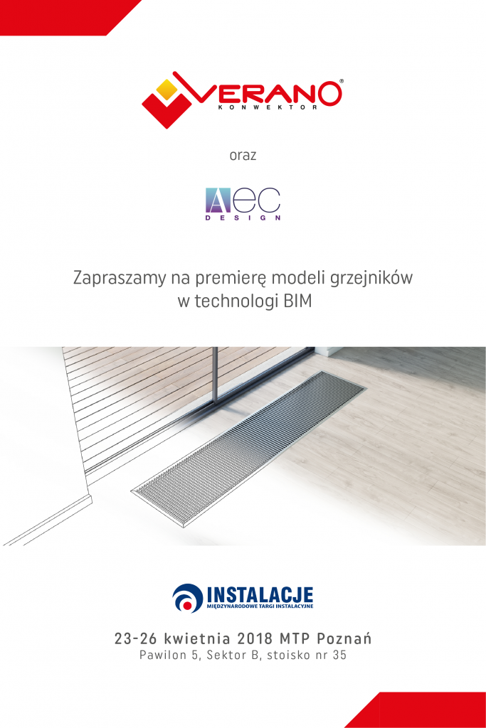 Międzynarodowe Targi Instalacyjne w Poznaniu 23-26 kwietnia.